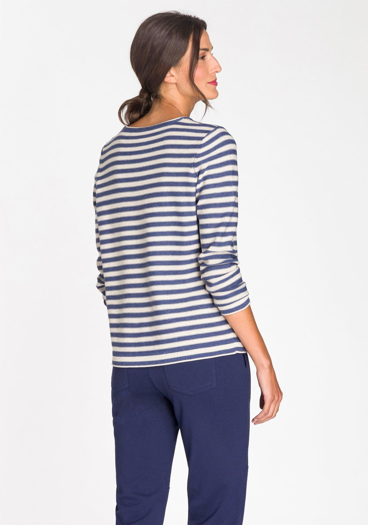 Crew Neck Striped Sweater