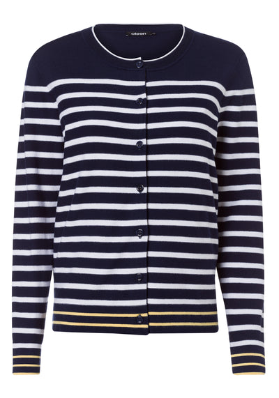 Long Sleeve Crewneck Stripe Pullover