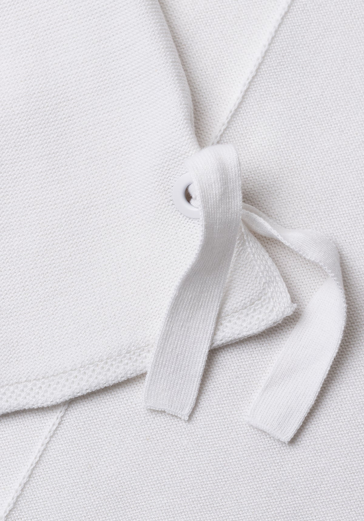 3/4 Sleeve Pullover with Cuff Tie Detail