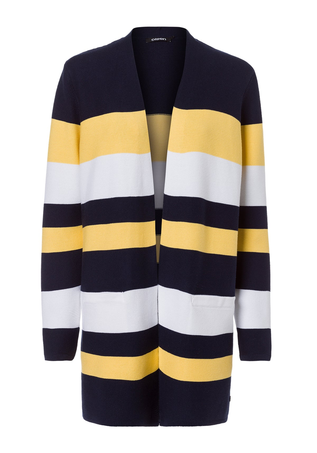 Long Bold Stripe Cardigan