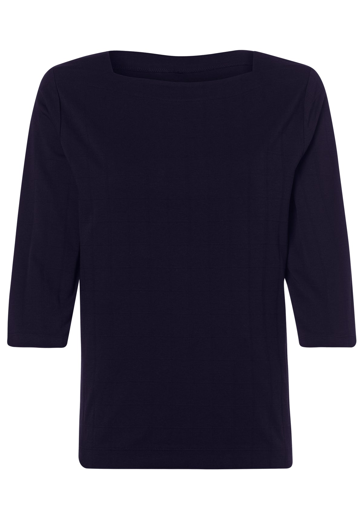 100% Cotton 3/4 Sleeve Square Neck T-Shirt