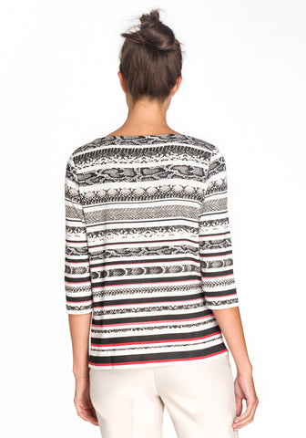 Multi Stripe Print T-shirt