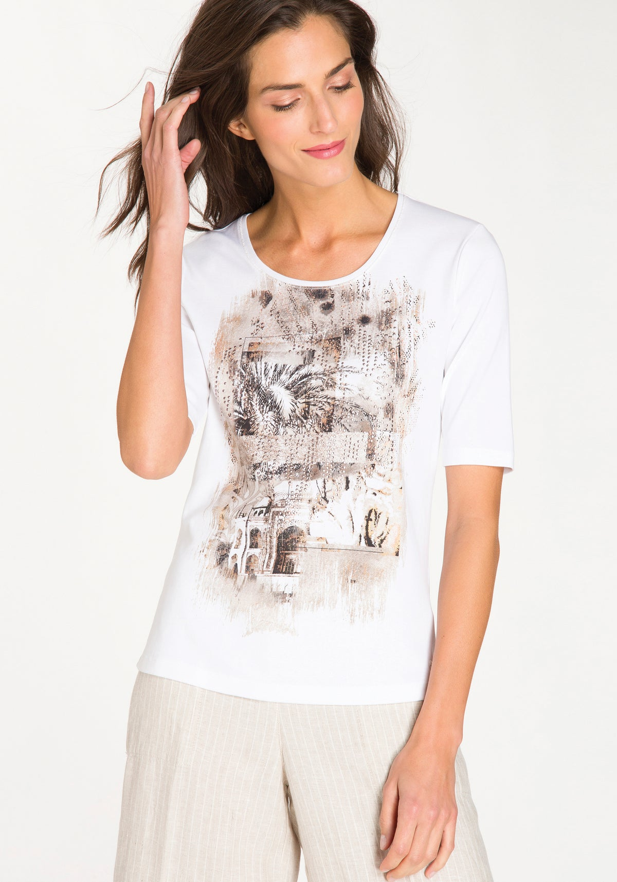 Placement Print Short Sleeve T-Shirt