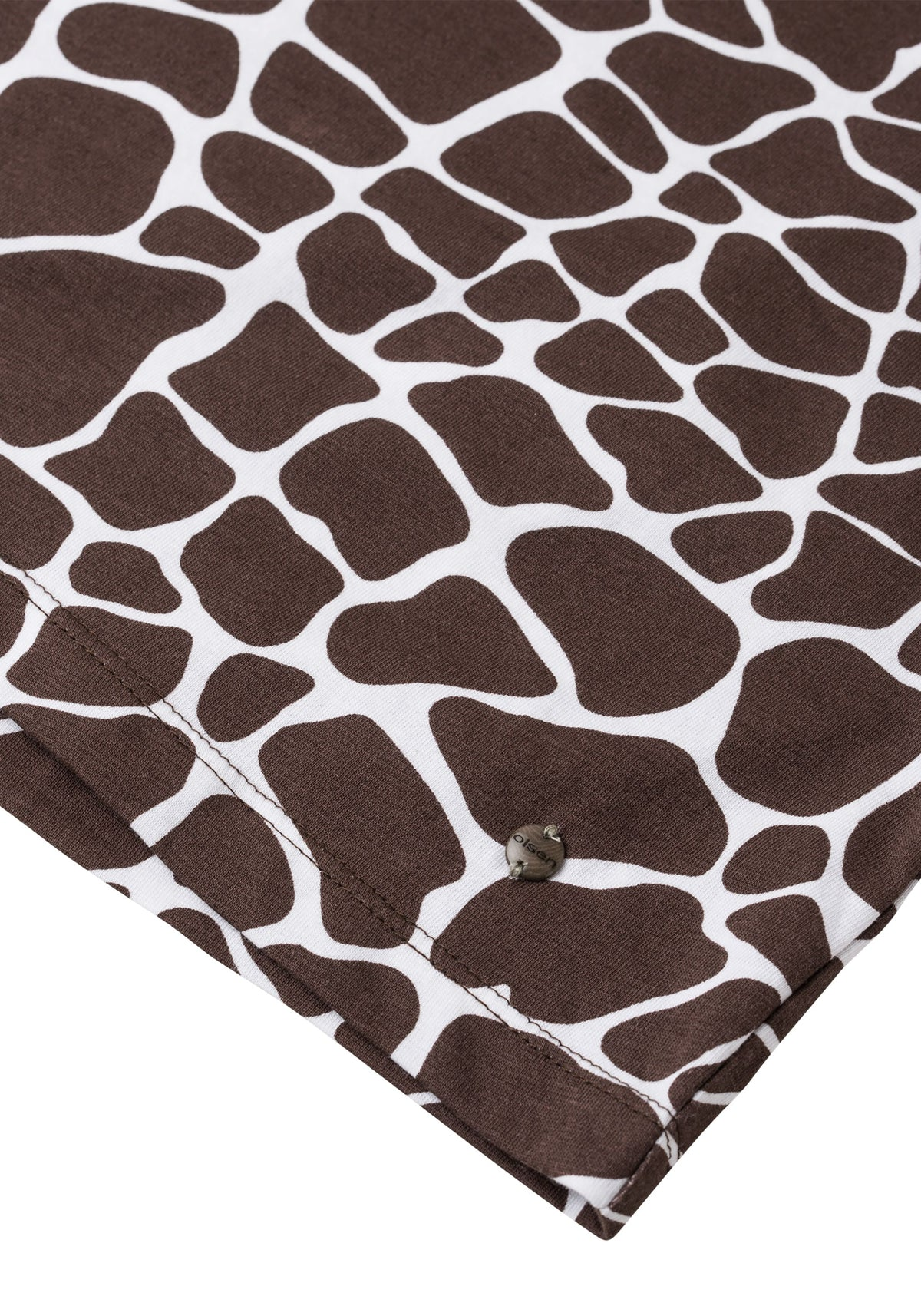 Giraffe Print 100% Cotton Short Sleeve T-Shirt