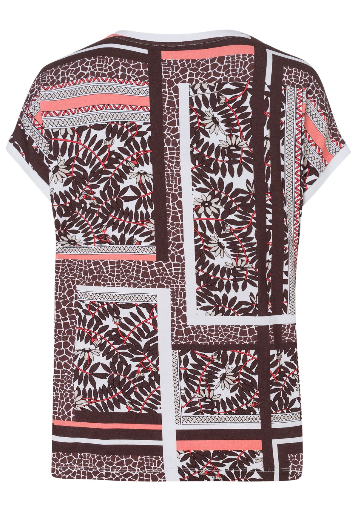 Mixed Nomadic Print Short Sleeve T-Shirt