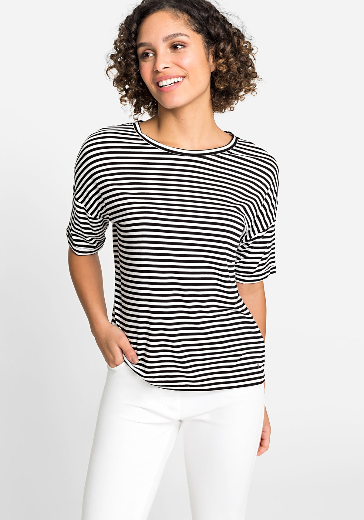 EcoVero™ Striped Short Sleeve T-Shirt