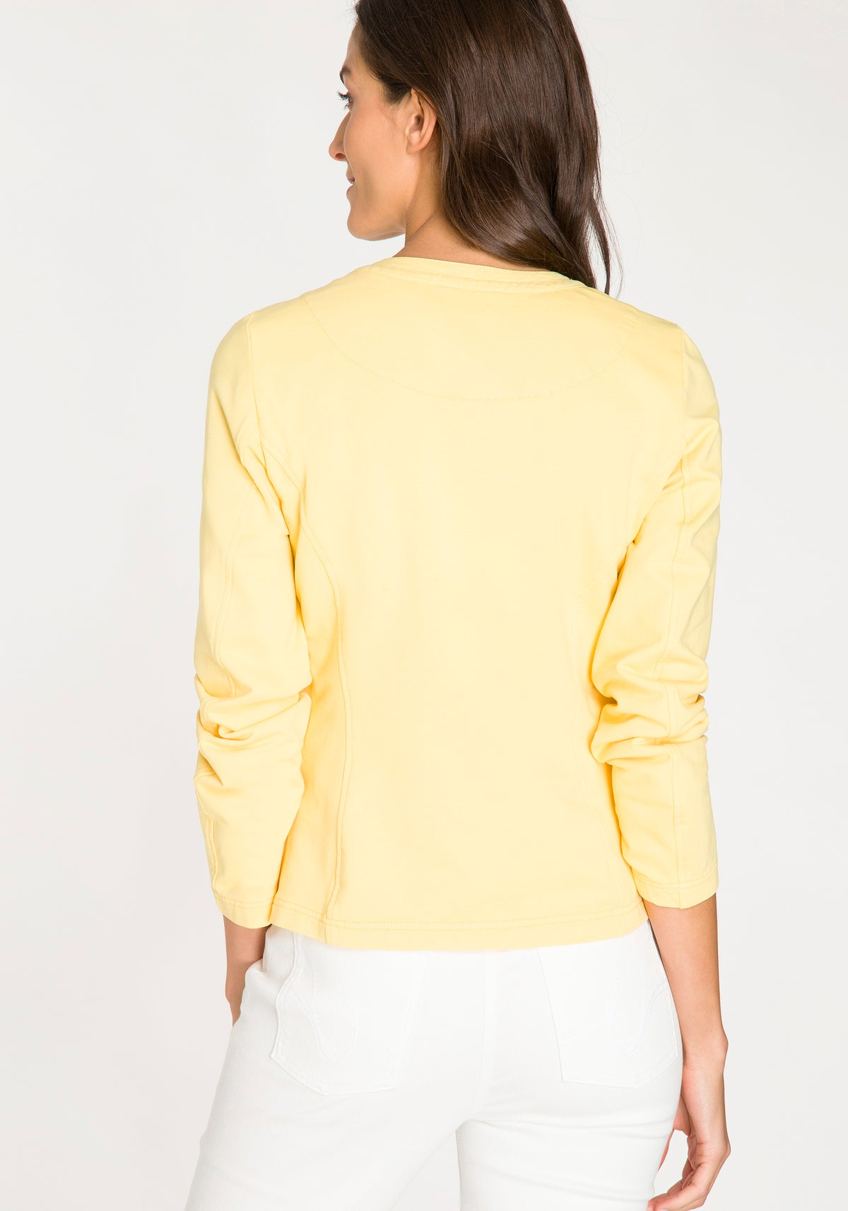 Long Sleeve Stretch Jacket with Front Pockets