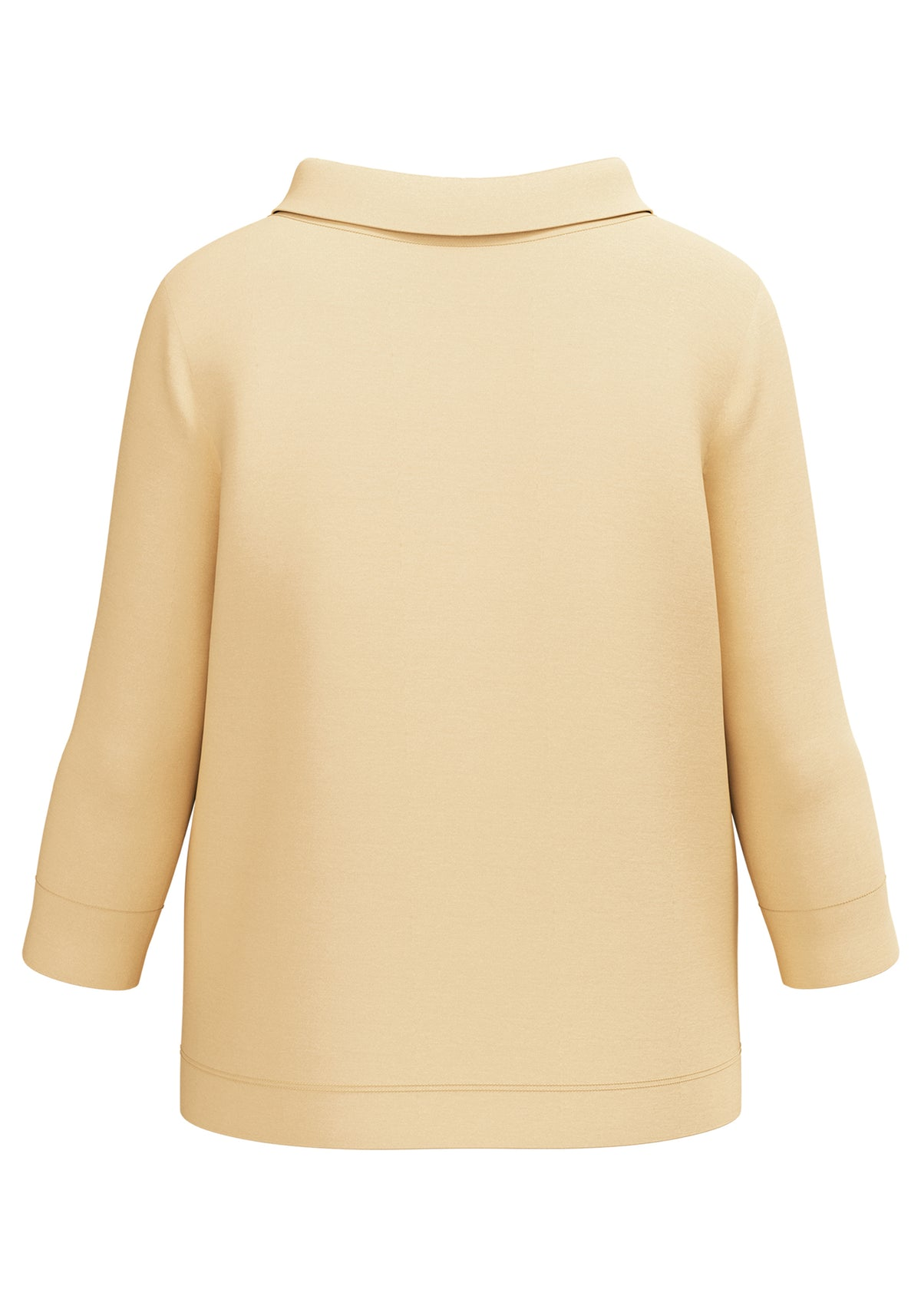 Funnel Neck 3/4 Sleeve Jersey Top