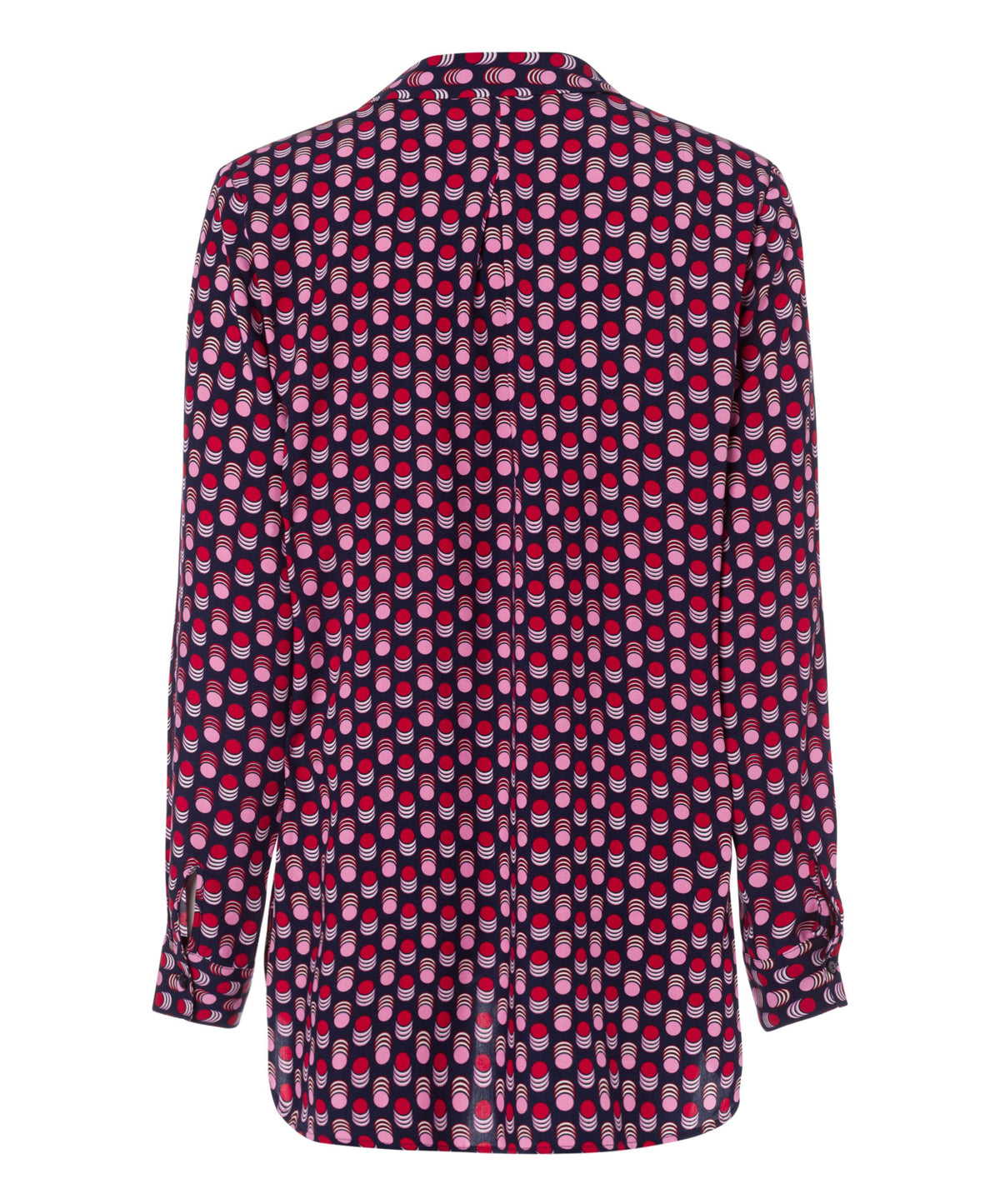 Optical Dot Print Blouse