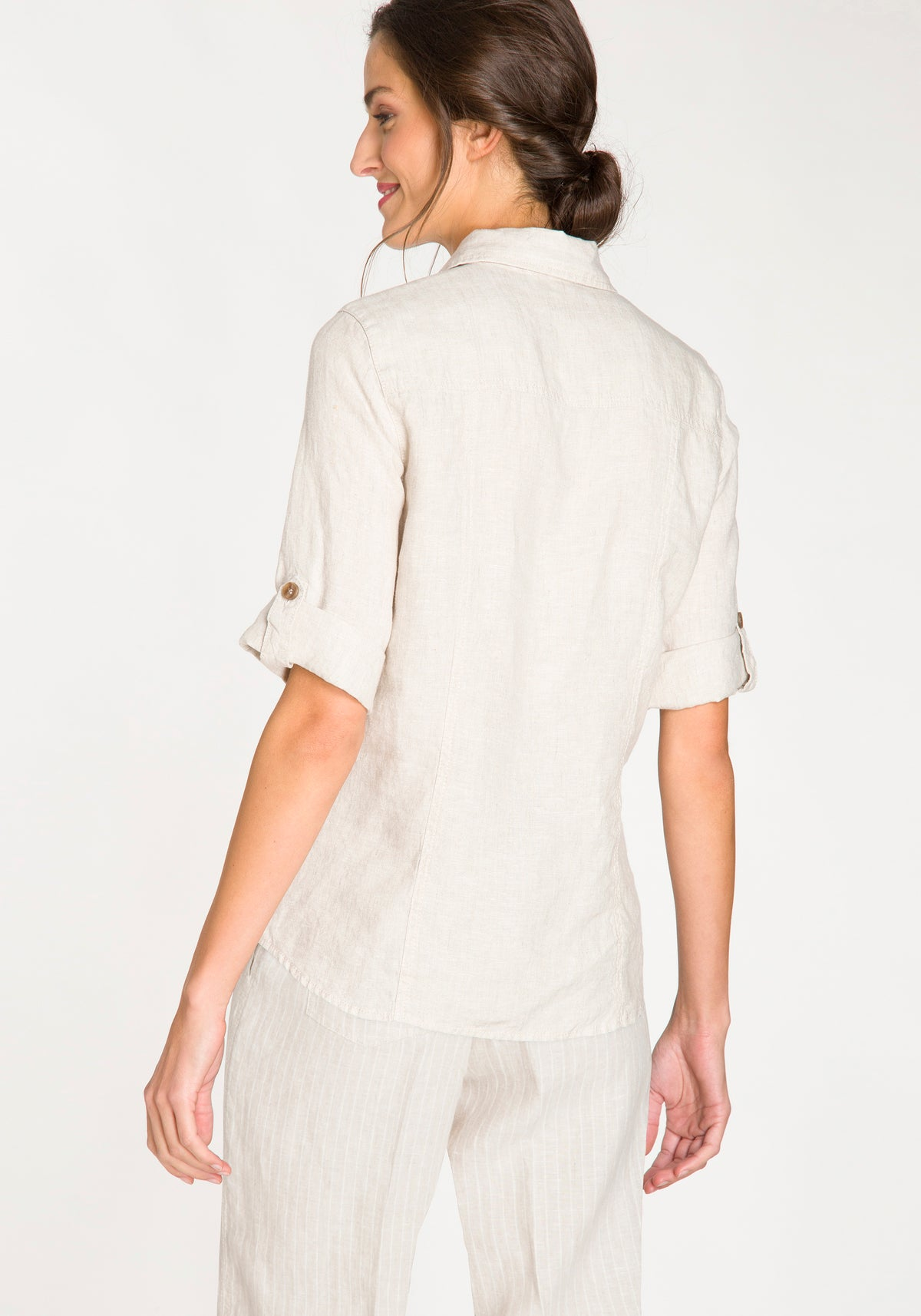 Short Sleeve Linen Camp Shirt