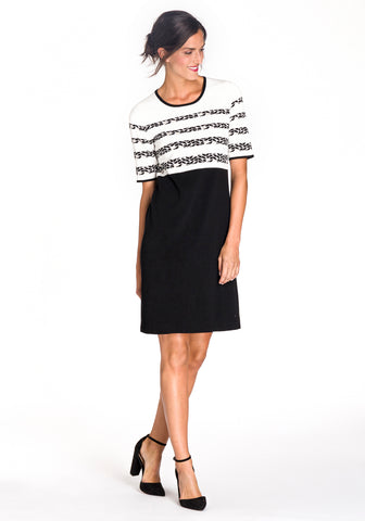 Knit Short-Sleeve Dress