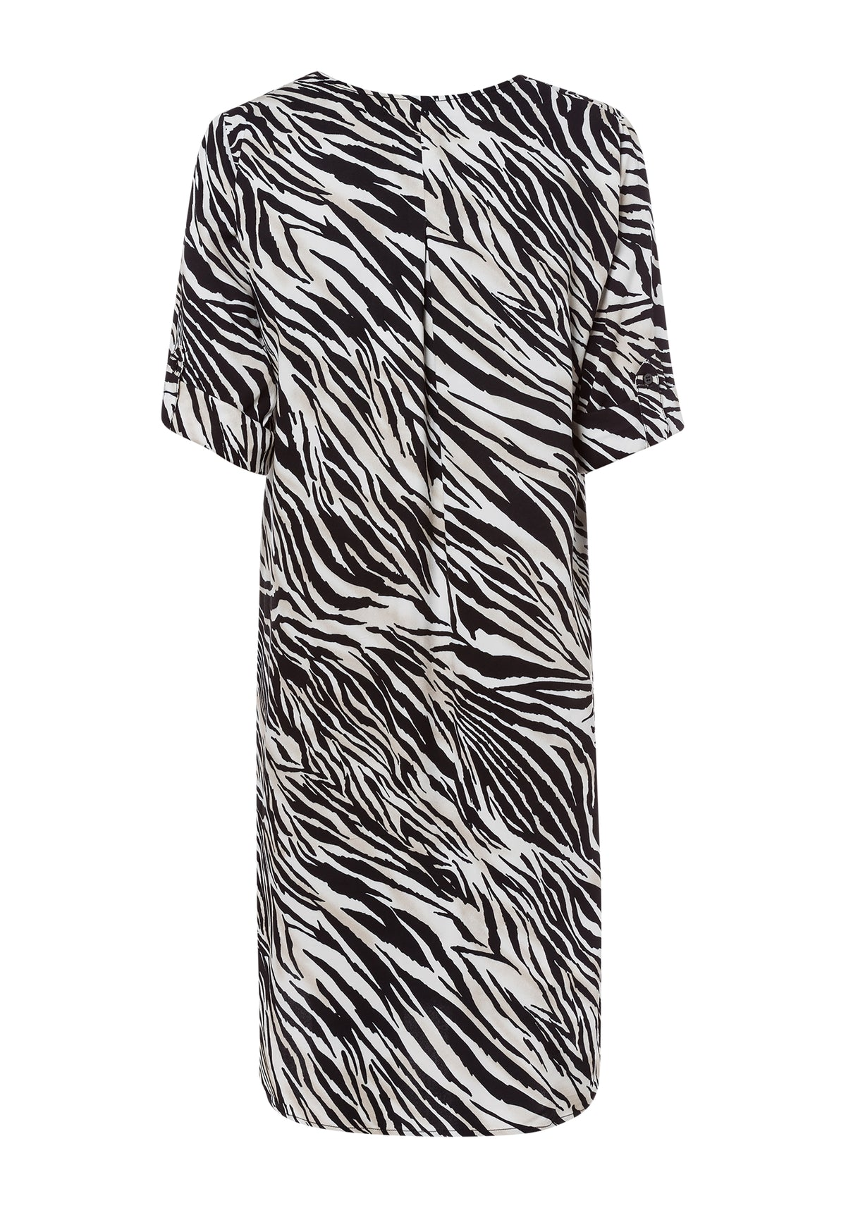 Zebra Print Short Sleeve Tunic Dress