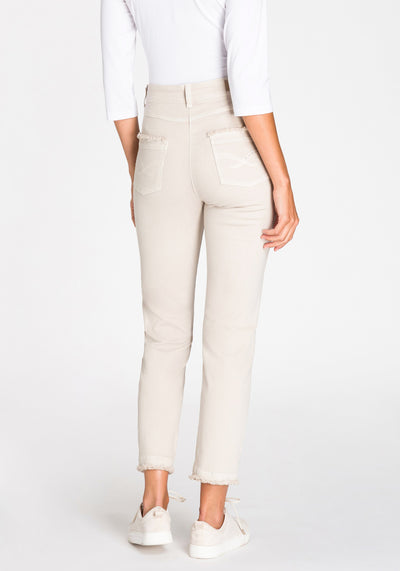 Mona Slim 5-Pocket Raw Hem Pant
