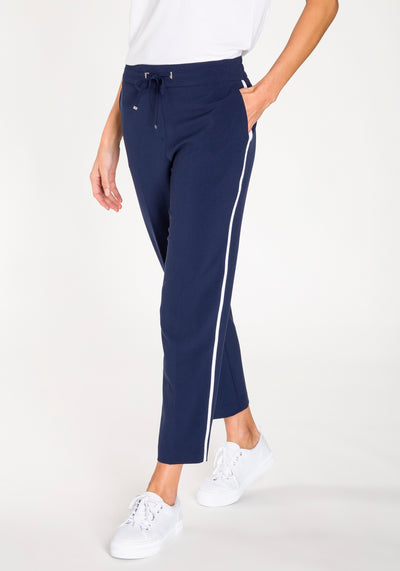 Lisa Fit Cropped Pant with Side Stripe
