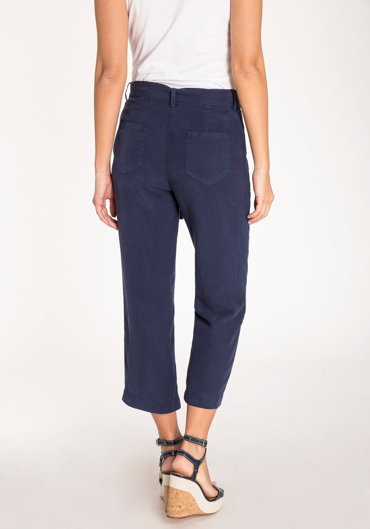 Mona Fit Straight Leg Cropped Trousers