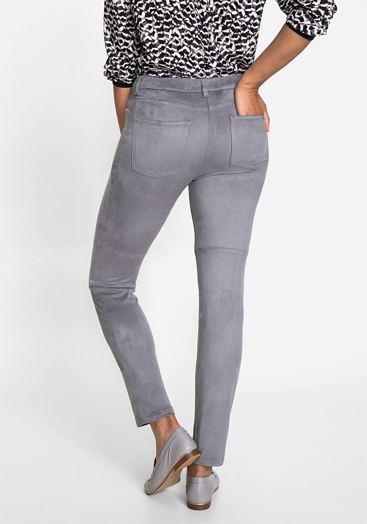 Mona Fit Slim Leg Ultra Suede Pant