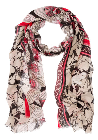Fan Mix Print Scarf