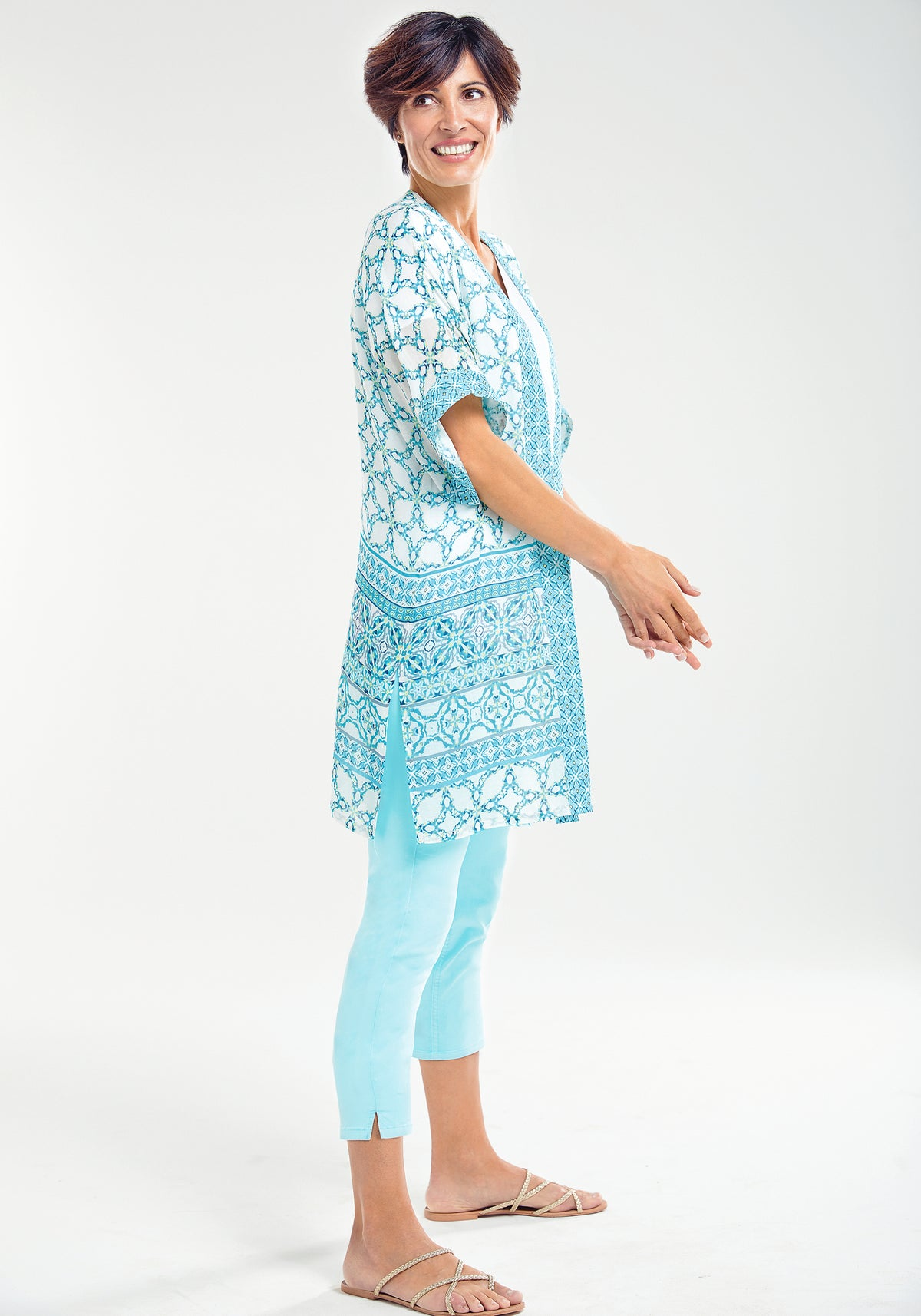 Tile Print Lightweight Summer Cape