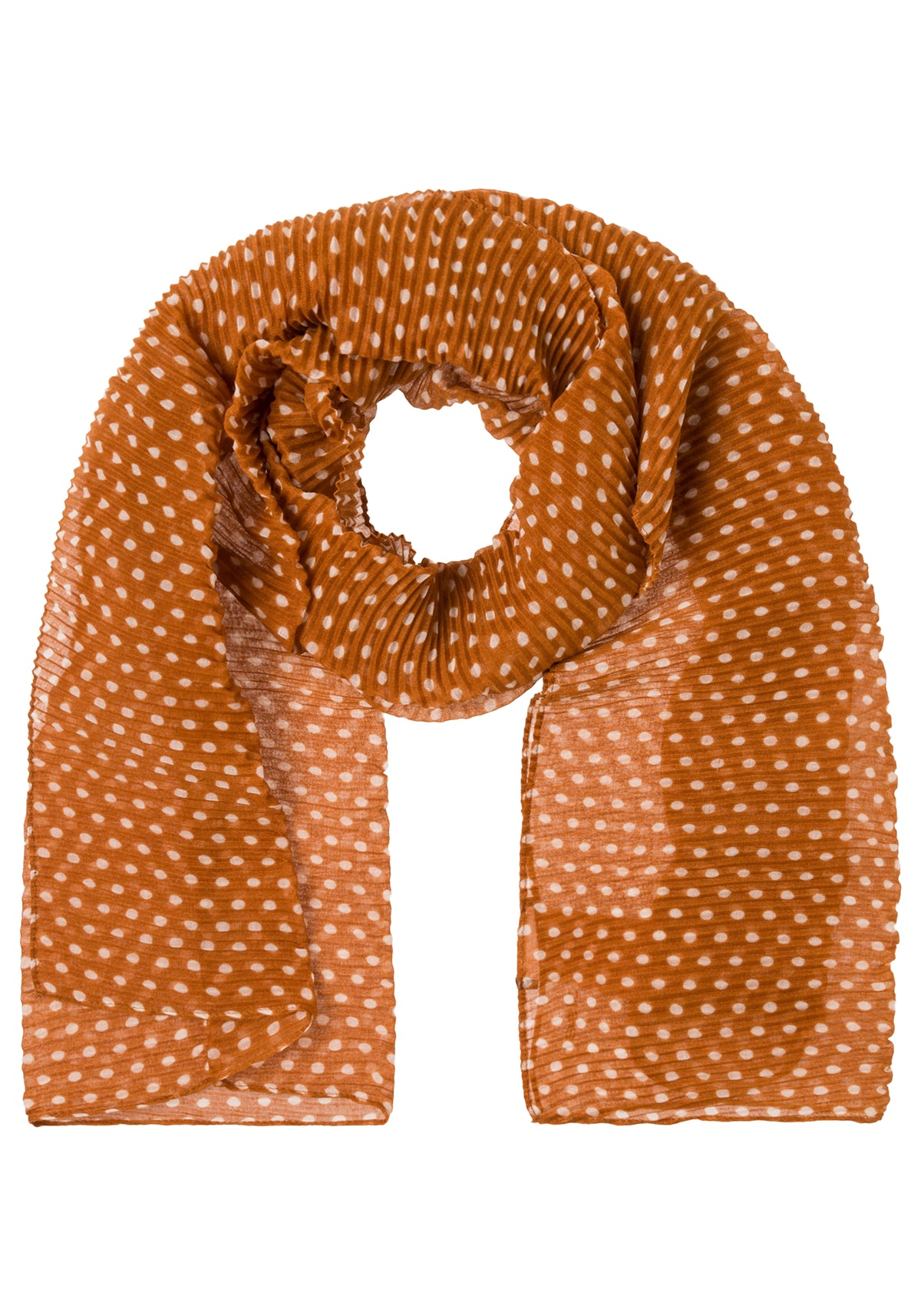 Micro Pleat and Polka Dot Scarf