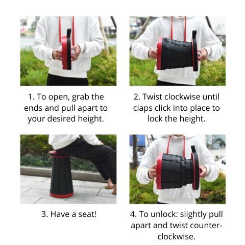 how to use foldable stool