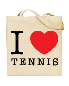 I Love (Heart) Tennis Canvas Shopper Tote Bag