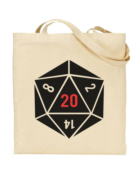 20 Sided Dice - Dungeons and Dragons Canvas Shopper Tote Bag