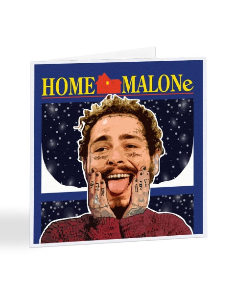 Post Malone Home Alone - Christmas Card