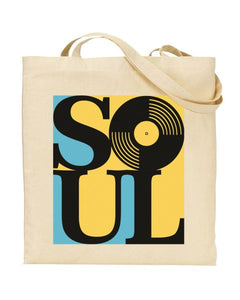 Soul Music Canvas Shopper Tote Bag