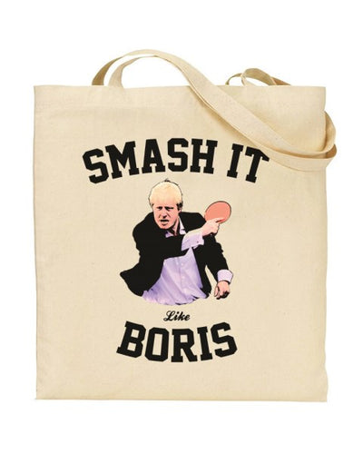 Smash It Like Boris - Boris Johnson Table Tennis Canvas Shopper Tote Bag