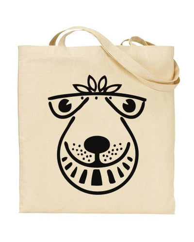 Space Hopper Face 80's Retro Canvas Shopper Tote Bag