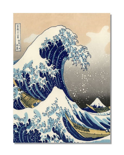 The Great Wave Off Kanagawa Hokusai Vintage Metal Wall Sign