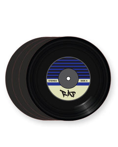 Vinyl Record Rap Music Genre - Barware Home Kitchen Drinks Coasters