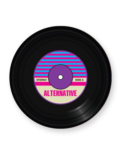Vinyl Record Alternative Music Genre - Barware Home Kitchen Drinks Coasters