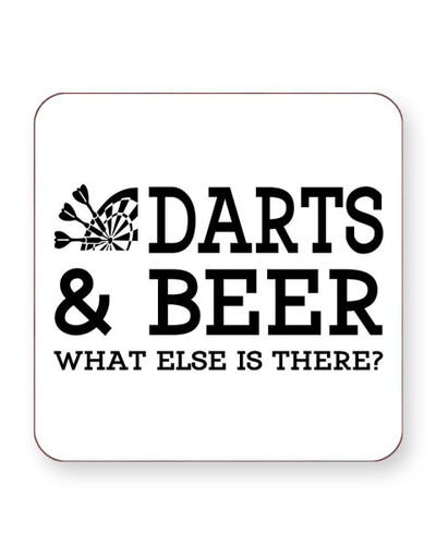 Darts and Beer What Else is There - Barware Home Kitchen Drinks Coasters