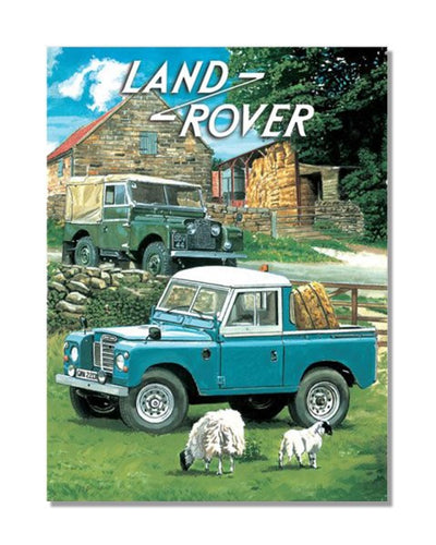 Land Rover Classic Car Vintage Metal Wall Sign