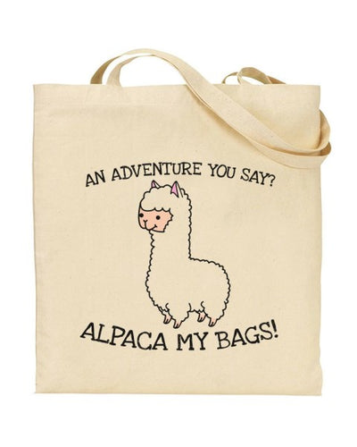An Adventure You Say Alpaca My Bags Canvas Shopper Tote Bag