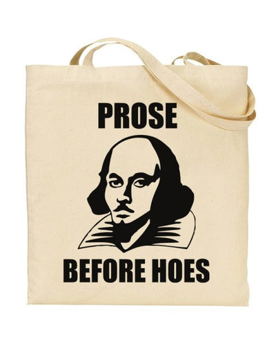 Prose Before Hoes Book Lover Canvas Shopper Tote Bag