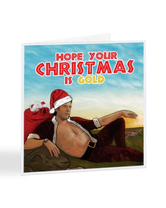 Hope Your Christmas is Gold - Jeff Goldblum Christmas Card