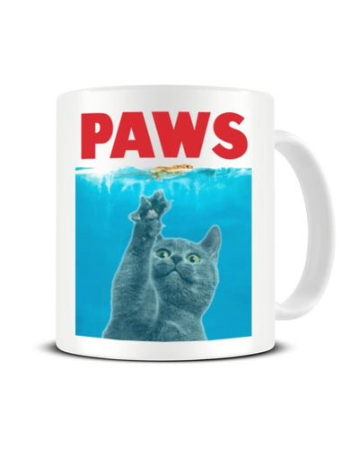 PAWS Cat JAWS Parody Ceramic Mug