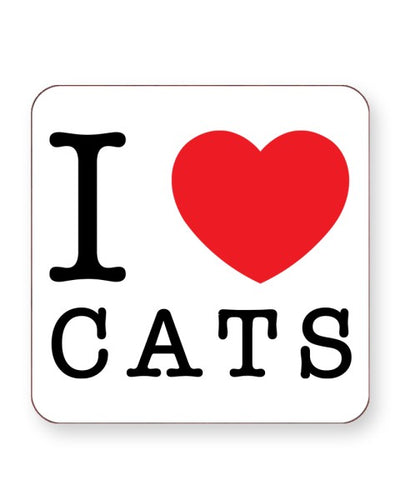 I Love Cats - Barware Home Kitchen Drinks Coasters