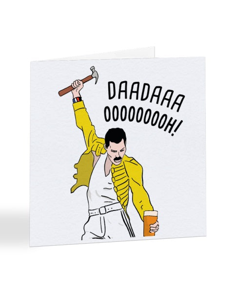 Dada Ooh! - Freddie Mercury - Father's Day Greetings Card