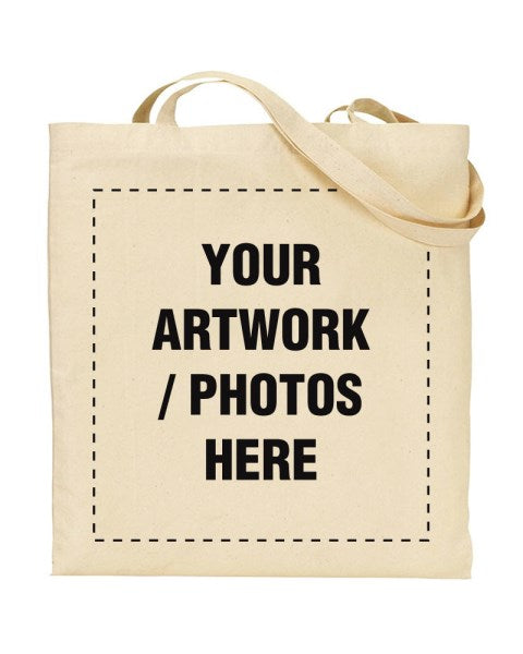 Custom Printed Full Colour Canvas Shopper Tote Bag