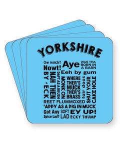 Yorkshire Slang Words - Funny Dialect - Barware Home Kitchen Drinks Coasters
