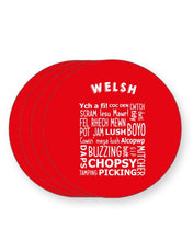 Load image into Gallery viewer, Welsh Slang Words - Funny Wales Dialect - Barware Home Kitchen Drinks Coasters