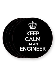 Keep Calm I'm an Engineer - Barware Home Kitchen Drinks Coasters