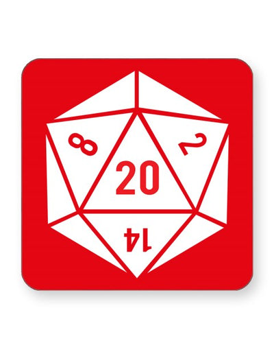20 Sided Dice - Dungeons and Dragons - Barware Home Kitchen Drinks Coaste