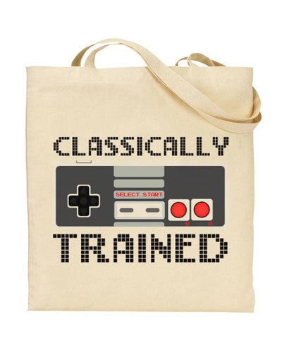 Classically Trained - Retro Gamer Canvas Shopper Tote Bag