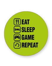 Load image into Gallery viewer, Eat Sleep Game Repeat - Video Gamer - Barware Home Kitchen Drinks Coasters