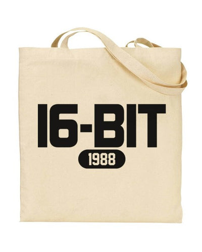 16 Bit 1988 Retro Video Games Canvas Shopper Tote Bag