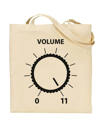 Volume Goes to 11 Guitarist Amp Spinal Tap Canvas Shopper Tote Bag